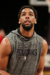February 27, 2019 - Los Angeles, CA, U.S. - LOS ANGELES, CA - FEBRUARY 27: New Orleans Pelicans Center Jahlil Okafor (8) before the New Orleans Pelicans versus Los Angeles Lakers game on February 27, 2019, at Staples Center in Los Angeles, CA. (Photo by Icon Sportswire) (Credit Image: © Icon Sportswire/Icon SMI via ZUMA Press)