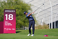 Nicolas Colsaerts (BEL) on the 18th during Round 1 of the Commercial Bank Qatar Masters 2020 at the Education City Golf Club, Doha, Qatar . 05/03/2020<br /> Picture: Golffile   Thos Caffrey<br /> <br /> <br /> All photo usage must carry mandatory copyright credit (© Golffile   Thos Caffrey)