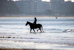 Beach walk<br /> CSIO La Baule 2021<br /> © Hippo Foto - Dirk Caremans<br />  12/06/2021