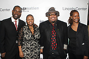 l to r: Greg Gates, Moikgansti Kgama, Stew and Melissa Thornton at The ImageNation celebration for the 20th Anniversary of ' Do the Right Thing' held Lincoln Center Walter Reade Theater on February 26, 2009 in New York City. ..Founded in 1997 by Moikgantsi Kgama, who shares executive duties with her husband, Event Producer Gregory Gates, ImageNation distinguishes itself by screening works that highlight and empower people from the African Diaspora.