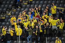 March 23, 2019 - Stockholm, SWEDEN - 190323 Fans of Sweden after the UEFA Euro Qualifier football match between Sweden and Romania on March 23, 2019 in Stockholm  (Credit Image: © Simon HastegÃ…Rd/Bildbyran via ZUMA Press)