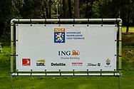 01-09-2016 Golffoto's van het Nationaal Open op de Hilversumsche Golf Club in Hilversum. finale.  Sponsorbord