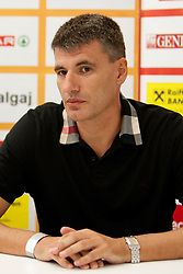 Velimir Perasovic during press conference of Adecco Ex-Yu Cup 2012 as part of exhibition games 2012, on August 3rd, 2012, in Arena Stozice, Ljubljana, Slovenia. (Photo by Urban Urbanc / Sportida)