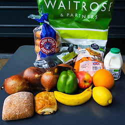 Product price comparisons between Little Waitrose in Wimbledon and a large Waitrose supermarket in Guildford. Wimbledon & Guildford, September 06 2018.