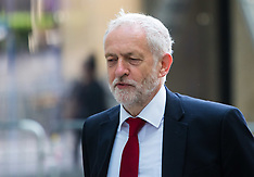 2017-06-11 Jeremy Corbyn and Sir Michael Fallon arrive at BBC for Andrew Marr Show