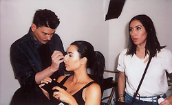 """Kim Kardashian releases a photo on Instagram with the following caption: """"When your glam squad is focused!!!"""". Photo Credit: Instagram *** No USA Distribution *** For Editorial Use Only *** Not to be Published in Books or Photo Books ***  Please note: Fees charged by the agency are for the agency's services only, and do not, nor are they intended to, convey to the user any ownership of Copyright or License in the material. The agency does not claim any ownership including but not limited to Copyright or License in the attached material. By publishing this material you expressly agree to indemnify and to hold the agency and its directors, shareholders and employees harmless from any loss, claims, damages, demands, expenses (including legal fees), or any causes of action or allegation against the agency arising out of or connected in any way with publication of the material."""