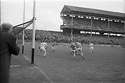 09/05/1965<br /> 05/09/1965<br /> 9 May 1965<br /> National Hurling League Semi-Final: Waterford v Tipperary at Croke Park, Dublin.<br /> Another great moment for the Tipperary team as D. Nealon flashes the ball into the net; however, the goal was disallowed.