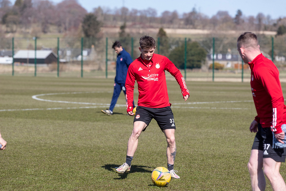 ABERDEEN FC TRAINING WITH NEW MANAGER STEPHEN GLASS AT CORMACK PARK<br /> <br /> PICTURE OF  MATTY KENNEDY<br /> <br /> PIC DEREK IRONSIDE / NEWSLINE MEDIA