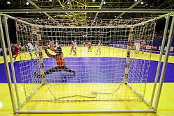 Handball match Slovenia - Criatia at 12th European Youth Olympic Summer Festival in Utrecht, Netherlands on July 16, 2013 in Utrecht, Netherland. (Photo by Peter Kastelic / Sportida.com)