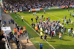 Bristol rovers fans chant towards the directions box. - Photo mandatory by-line: Alex James/JMP - Mobile: 07966 386802 03/05/2014 - SPORT - FOOTBALL - Bristol - Memorial Stadium - Bristol Rovers v Mansfield - Sky Bet League Two