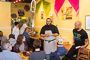 Philadelphia, PA - February 18, 2018: Chef Kurt Evans presents dinner as part of his End Mass Incarceration Dinner series at El Compadre in South Philadelphia. The event included a discussion led by Pastor Carl Day.<br /> <br /> <br /> CREDIT: Clay Williams for Civil Eats.<br /> <br /> © Clay Williams / http://claywilliamsphoto.com