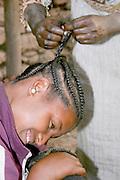 Africa, Ethiopia, Lalibela, Plaited hair
