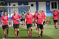 Fotball , EM , Norge 20.juli 2013 , kvinner ,  Sverige , Kalmar , trening<br /> Maren Mjelde<br /> Marita Lund<br /> Ingvild Isaksen<br /> Solveig Gulbrandsen<br /> <br /> Foto: Ole Marius Fjalsett