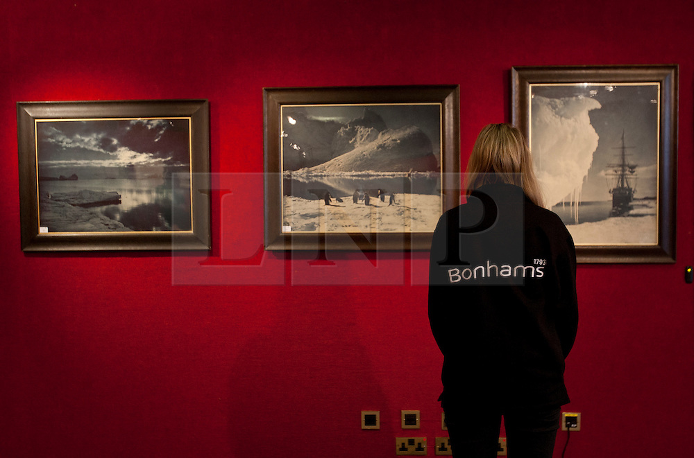 © licensed to London News Pictures. London, UK 22/03/2012. Herbert George's pictures, taken during the Arctic expedition in 1911 going to be sold on March 30th by Bonhams, London. Photo credit: Tolga Akmen/LNP