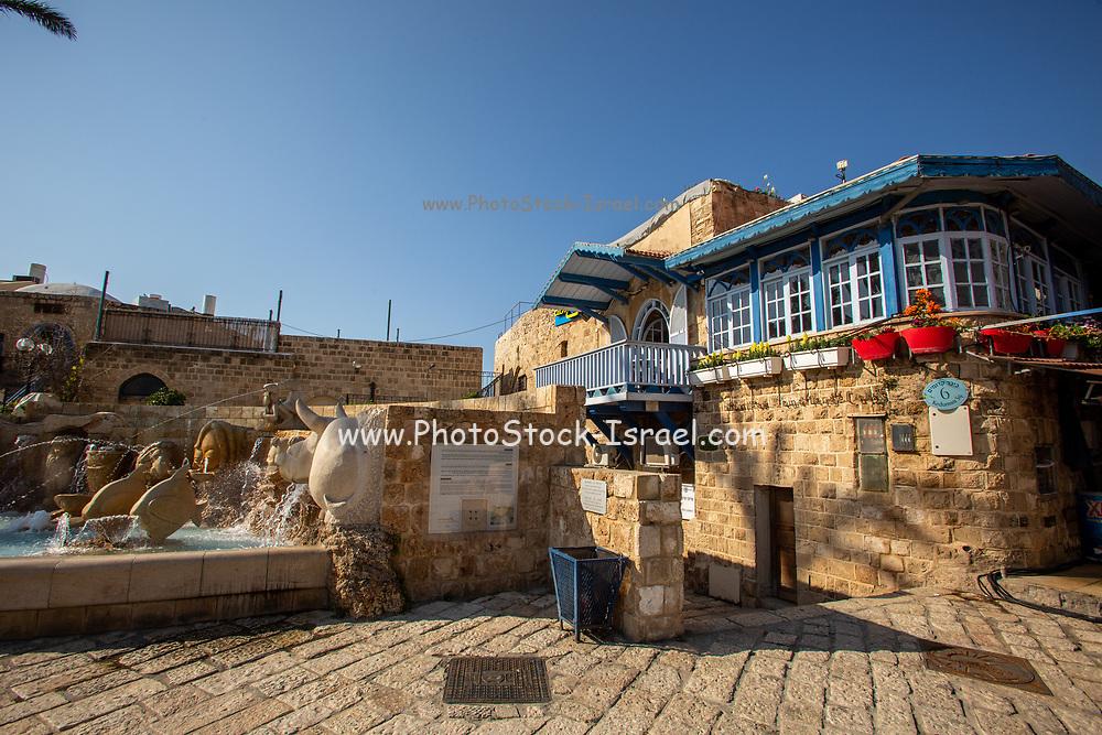 Israel, Tel Aviv-Yafo, Kikar Kdumim (Kdumim square) centre of old Jaffa