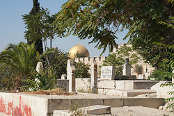 A view of a Muslim cemetery in the Old City of Jerusalem. From a series of travel photos taken in Jerusalem and nearby areas. Photo date: Wednesday, August 1, 2018. Photo credit should read: Richard Gray/EMPICS