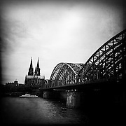 Hohenzollern Bridge and Cologne Cathedral