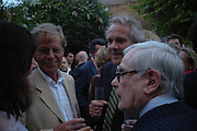 Trevor Grove, Henry Porter and Dominick Dunne Spectator party. Doughty St. London. 28 July 2005. ONE TIME USE ONLY - DO NOT ARCHIVE  © Copyright Photograph by Dafydd Jones 66 Stockwell Park Rd. London SW9 0DA Tel 020 7733 0108 www.dafjones.com