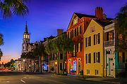 "Charleston is the oldest and largest city in the U.S. state of South Carolina, known for its large role in the American slave trade. The city is the county seat of Charleston County, and the principal city in the Charleston–North Charleston–Summerville Metropolitan Statistical Area. The city lies just south of the geographical midpoint of South Carolina's coastline and is located on Charleston Harbor, an inlet of the Atlantic Ocean formed by the confluence of the Ashley, Cooper, and Wando rivers. <br /> <br /> Charleston was founded in 1670 as Charles Town, honoring King Charles II of England. Its initial location at Albemarle Point on the west bank of the Ashley River (now Charles Towne Landing) was abandoned in 1680 for its present site, which became the fifth-largest city in North America within ten years. One of the key cities in the British colonization of the Americas, Charles Town played a major role in the slave trade, which laid the foundation for the city's size and wealth, and was dominated by a slavocracy of plantation owners and slave traders. Independent Charleston slave traders like Joseph Wragg were the first to break through the monopoly of the Royal African Company, pioneering the large-scale slave trade of the 18th century. Historians estimate that ""nearly half of all Africans brought to America arrived in Charleston"", most at Gadsden's Wharf. Despite its size, it remained unincorporated throughout the colonial period; its government was handled directly by a colonial legislature and a governor sent by London, UK. Election districts were organized according to Anglican parishes, and some social services were managed by Anglican wardens and vestries. Charleston adopted its present spelling with its incorporation as a city in 1783 at the close of the Revolutionary War. Population growth in the interior of South Carolina influenced the removal of the state government to Columbia in 1788, but the port city remained among the ten largest cities in the United S"
