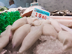 Fish for sale at market, Getxo, Algorta, Basque Country, Biscay, Spain, Europe
