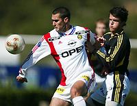 Fotball, La Manga, Spania. 23. februar 2002. AIK Stockholm - Lillestrøm 1-3.  Clayton Zane, Lillestrøm.