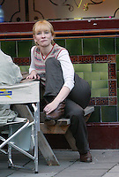 picture jack ludlam  Cate Blanchett on set taking a break while filming movie with Dame Judy dench High Quality Prints please enquire via contact Page. Rights Managed Downloads available for Press and Media