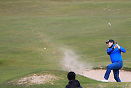 Andy Hogan (Dublin) plays out of a bunker on the 9th during the PGA Winter Series Southern Branch in Rush Golf Club on Friday 20th March 2015.<br /> Picture:  Thos Caffrey / www.golffile.ie