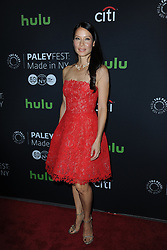 October 8, 2016 - New York, NY, USA - October 8, 2016  New York City..Lucy Liu attending The Paley Center for Media presents PaleyFest: Made in NY with the cast of 'Elementary' on October 8, 2016 in New York City. (Credit Image: © Callahan/Ace Pictures via ZUMA Press)