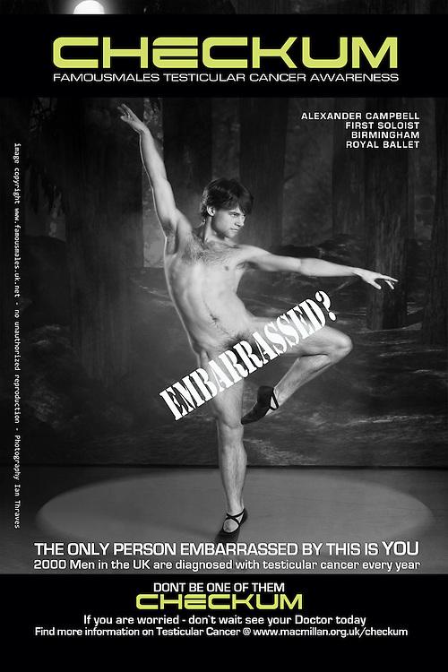 Iain Mackay - Birmingham Royal Ballet - Checkum Testicular Cancer Awareness Campaign