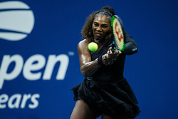 September 5, 2018 - Flushing Meadow, NY, U.S. - FLUSHING MEADOW, NY - SEPTEMBER 04: SERENA WILLIAMS (USA) day nine of the 2018 US Open on September 04, 2018, at Billie Jean King National Tennis Center in Flushing Meadow, NY. (Photo by Chaz Niell/Icon Sportswire) (Credit Image: © Chaz Niell/Icon SMI via ZUMA Press)