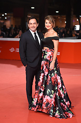 Piero Mazzucchetti and partner Federica Peluffo during the red carpet for The House With A Clock in its Walls premiere at the Rome Film Fest on October 19, 2018