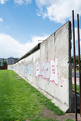 Section of original Berlin Wall at Bernauer Strasse in Berlin Germany