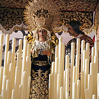 Europe, Spain, Seville. The  Basilica of the Macarena, housing statues and pasos for Semana Santa, including La Macerena Virgin Mary.