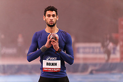 February 7, 2018 - Paris, Ile-de-France, France - Basile Rolnin of France competes in shot put triathlon during the Athletics Indoor Meeting of Paris 2018, at AccorHotels Arena (Bercy) in Paris, France on February 7, 2018. (Credit Image: © Michel Stoupak/NurPhoto via ZUMA Press)