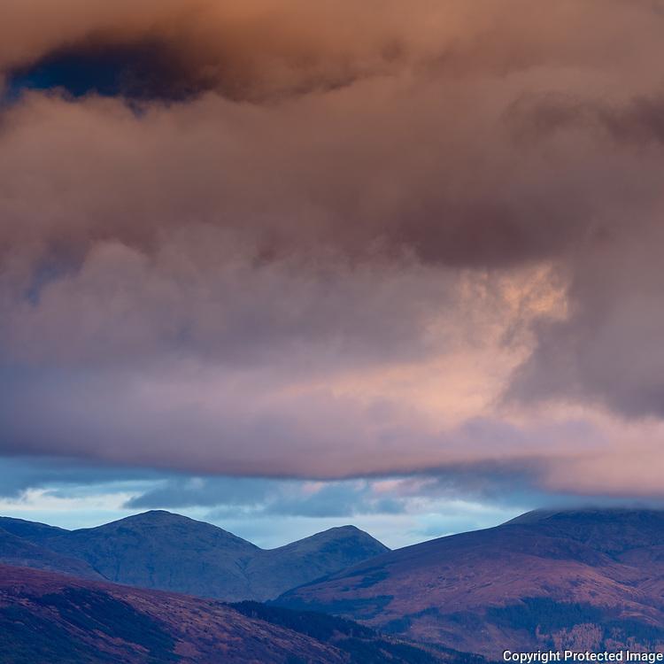 8.11am Meall na h-Eilde and Meall an Tagraidh from Carn Dearg Meadhonach, Highland, Scotland.