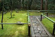 Daitokugi Temple, Zen moss garden. Kyoto, Japan