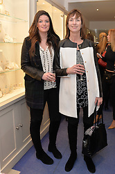 Left to right, TAMARA HARRISON and CYNTHIA HARRISON at a preview of the latest collections by jewellery designer Kiki Mcdonough and fashion label Beulah held at Kiki McDonough Jewellery, 12 Symons Street, London on 5th March 2014.