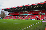 Charlton Athletic ground, The Valley during the EFL Sky Bet League 1 match between Charlton Athletic and AFC Wimbledon at The Valley, London, England on 12 December 2020.