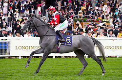 Arbalet ridden by Jockey Josephine Gordon goes to post for the Jersey Stakes