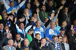 Bristol Rovers fans - Photo mandatory by-line: Dougie Allward/JMP - Mobile: 07966 386802 26/04/2014 - SPORT - FOOTBALL - High Wycombe - Adams Park - Wycombe Wanderers v Bristol Rovers - Sky Bet League Two
