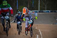 #121 (VAN DER BIEZEN Raymon) NED and #421 (RICCARDI Romain) ITA at the 2014 UCI BMX Supercross World Cup in Santiago Del Estero, Argentina.