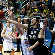 Anadolu Efes's Ermal Kurtoglu (F) during their Turkish Basketball league derby match Fenerbahce Ulker between Anadolu Efes at the Ulker Sports Arena in Istanbul, Turkey, Monday, April 29, 2013. Photo by Aykut AKICI/TURKPIX