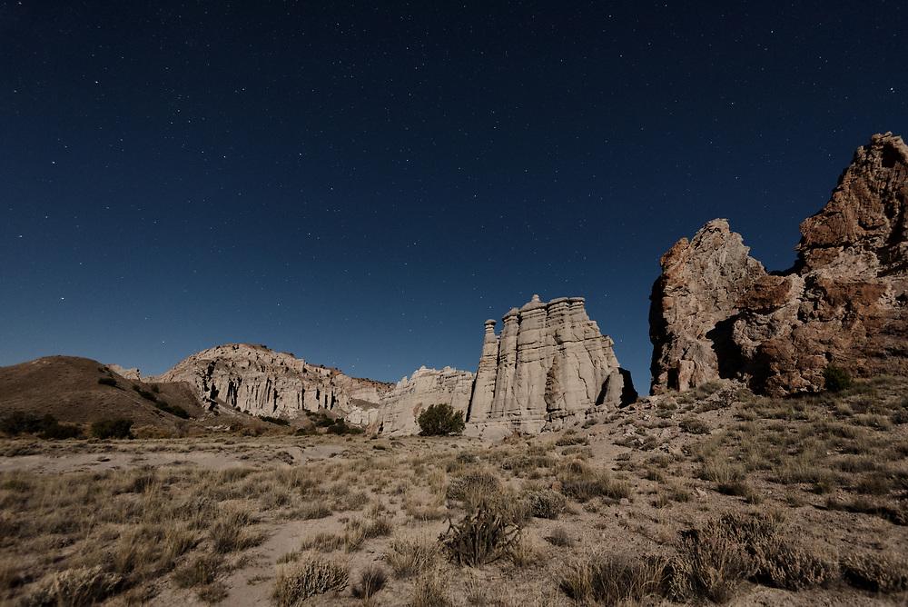 Plaza Blanca, Abiquiu, New Mexico beneath the stars.