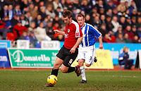 Photo: Alan Crowhurst.<br />Brighton & Hove Albion v Bristol City. Coca Cola League 1. 24/02/2007. Bristol's David Noble attacks.