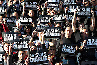Philippe SAINT ANDRE - Hommage Charlie Hebdo - 10.01.2015 - Toulon / Racing Metro - 16e journee Top 14<br />Photo : Jc Magnenet / Icon Sport