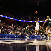 Kaleena Mosqueda-Lewis, UConn, shoots three during the UConn Huskies Vs USF Bulls Basketball Final game at the American Athletic Conference Women's College Basketball Championships 2015 at Mohegan Sun Arena, Uncasville, Connecticut, USA. 9th March 2015. Photo Tim Clayton