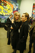 KIM HERSOV AND DAISY BATES, Franz Ackermann , Home, home again private view. White Cube, Hoxton sq. London. 20 April 2006. ONE TIME USE ONLY - DO NOT ARCHIVE  © Copyright Photograph by Dafydd Jones 66 Stockwell Park Rd. London SW9 0DA Tel 020 7733 0108 www.dafjones.com