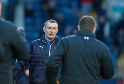 Raith Rovers manager Barry Smith and Airdrie's manager Steve Findlay at the end. Raith Rovers 2 v 1 Airdrie, Scottish Football League Division One game played 10/2/2018 at Stark's Park, Kirkcaldy.
