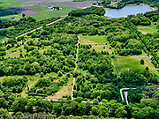Nederland, Noord-Brabant, Tilburg-Noord; 14–05-2020; recreatiegebied Noorderbos, aangelegd op voormalige vloeivelden (gebruikt voor waterzuivering).<br /> Noorderbos recreation area, built on former flow fields (used for water purification).<br /> <br /> luchtfoto (toeslag op standaard tarieven);<br /> aerial photo (additional fee required)<br /> copyright © 2020 foto/photo Siebe Swart
