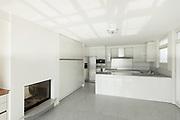 Architecture, interior of a modern house, white kitchen